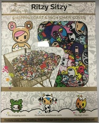 Genuine Tokidoki Itzy Ritzy Sitzy Shopping Cart & High Chair Cover Donutella