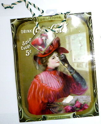 """New Coca Cola Vintage Style Gift Bag 7"""" Wide x 9"""" Tall  x 4"""" Deep"""