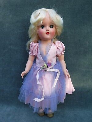 Vintage Ideal Toni 90W High Color Blonde in Unusual Tagged Dress