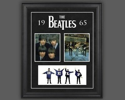 The Beatles: 1965 framed presentation, by Mounted Memories