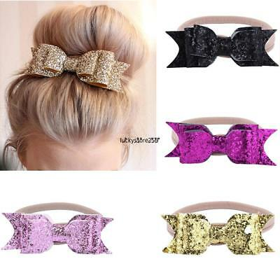 Baby Girls Bow Headband Hairband Soft Elastic Band Variety Hair Christening +Lot