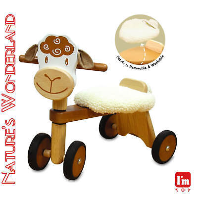 Paddie Rider LAMBIE Ride-on Push Trike Pet - I'm Toy Eco sustainable rubber wood