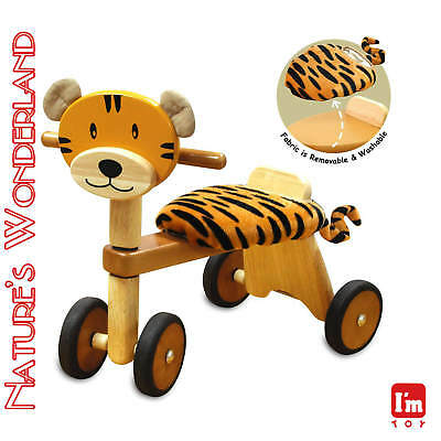 Paddie Rider TIGGER Ride-on Push Trike Pet - I'm Toy Eco sustainable rubber wood