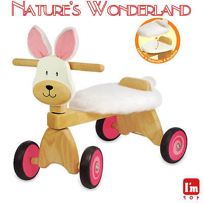Paddie Rider BUNNY RABBIT Ride-on Push Trike I'm Toy Eco sustainable rubber wood