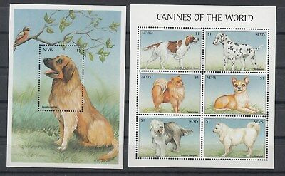 Nevis: 2000, Dogs set 2 x miniature sheets. MNH.Scarce and going Cheap