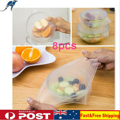 8PCS Silicone Suction Lid-bowl Pan Cooking Pot Lid-silicon Stretch Lid Cover
