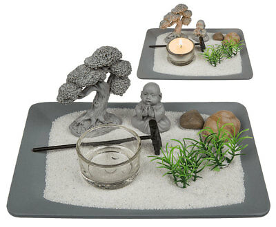 buddha deko tablett teelichthalter dekofigur buddhismus zen garden feng shui picclick de. Black Bedroom Furniture Sets. Home Design Ideas