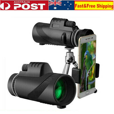 HD Monocular Telescope Night Vision Prism Scope 40X60 High Power With Phone Clip