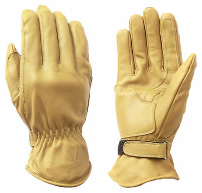 Cafe Racer Chopper Leather Gloves, Biker Motorcycle Leather Gloves, New Size XL
