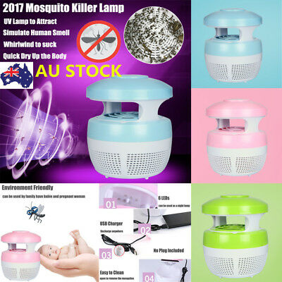 Electronic Mosquito Killer Lamp LED UV Light Insect Bug Trap Indoor Pest Zapper