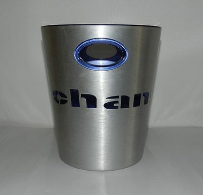 Large Champagne Bucket Cooler Stainless Steel and Blue Inner Liner