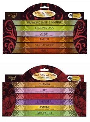 Incense Sticks Room Home Scents Garden & Exotic Aroma Fragrances Pack Of 48