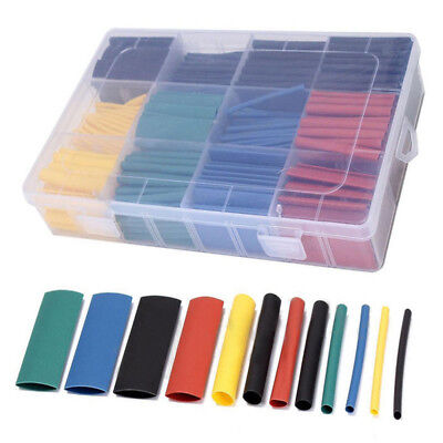 530Pcs 8 Sizes Assorted 2:1 Heat Shrink Tubing Tube Wrap Sleeve Wire Cable Kit