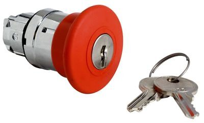 Red Emergency Mushroom Off Push Button Head Latching Key Release Switch ZB4BS14