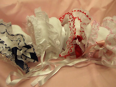 Dream Baby Girls Winter Fleece Lined Bonnet Various Colours/sizes Or Reborn Doll