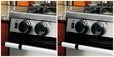 Safety Set Kitchen 5X Gas Electric Stove Knob Covers Locks For Baby Kids Black