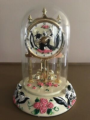 Pepe Le Pew And Penelope Anniversary Clock Warner Bros. Studio Store With Box