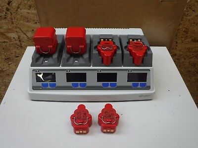 Stryker System 6 Battery Charger 6110-120-701 Rev D 4X 4222-110-000 batteries