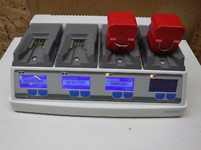Stryker System 6 Battery Charger 6110-120-701 Rev D 2X 6126-110 Batteries