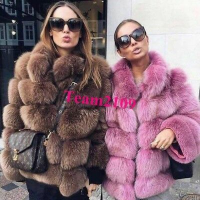 Ladies Whole Fox Fur Coat  Outwear Thicken synthetic Mink fur Jacket Winter