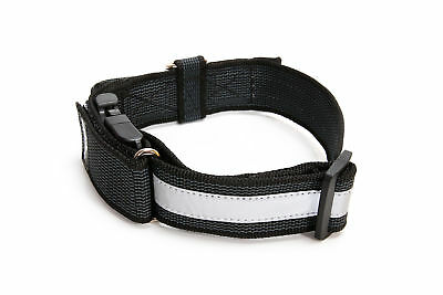 Julius-K9 Color & Gray Dog Puppy Reflective Collar Closable Handle Safety Lock