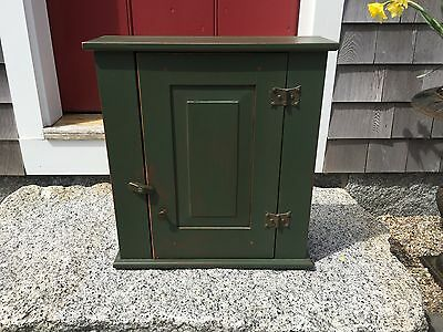 David T. Smith  CUSTOM  Hanging Cupboard w/ Hand wrought butterfly hinges