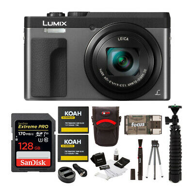 "Panasonic DC-ZS70K Lumix 20.3MP, 4K, 3""  180 Degree Touch Display, 128GB Bundle"