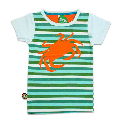 4FUNKYFLAVOURS Striped Cotton Crab Marine Baby Boys Top - 12 months - BNWT NEW
