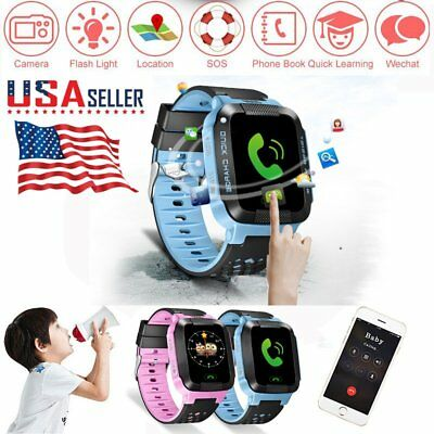 Anti-lost GPS Tracker SOS Call Smart Watch Wristband For Android IOS Smart Phone