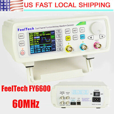 FeelTech FY6600 60MHz High Tech Dual Channel DDS Function Signal Generator