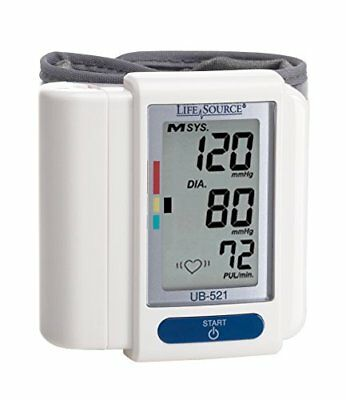 Life Source Digital Wrist Blood Pressure Monitor Easy to Use and Accurate