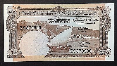 1965 SOUTH ARABIA YDR 250 FILS GREAT SERIAL Z9879900 REPLACEMENT Pick # 1b UNC