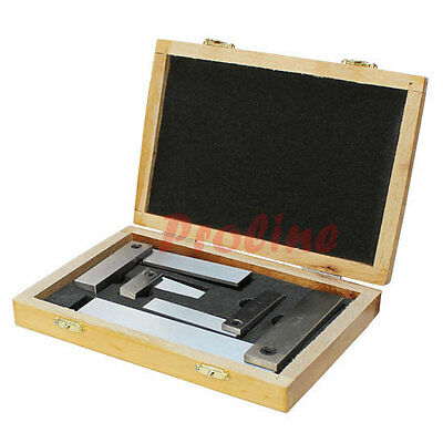 4 PC Machinist Hardened Steel Square Set Include 2'', 3'', 4'', 6'' Right Angle