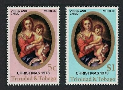 Trinidad and Tobago Painting Murillo Christmas 2v SG#448-449