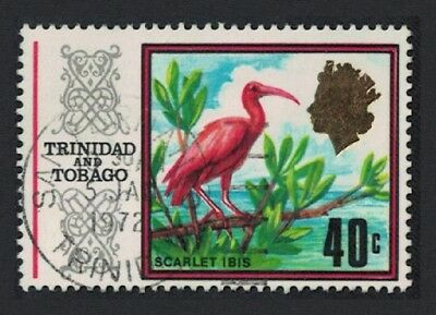 Trinidad and Tobago Scarlet Ibis Bird 1v 40c canc SG#350