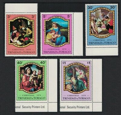 Trinidad and Tobago Paintings Christmas 5v Margins SG#386-390