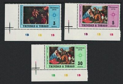 Trinidad and Tobago Paintings Christmas 3v Bottom Left Corners SG#431-433