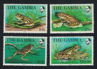 Gambia Frogs 4v SG#484-487