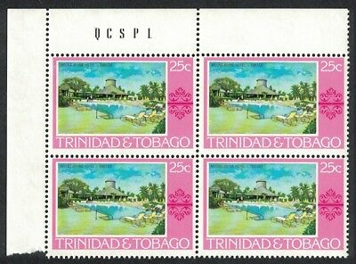 Trinidad and Tobago Mt. Irvine Hotel 1v 25c Corner Block of 4 SG#486