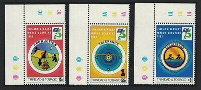 Trinidad and Tobago 75th Anniversary of Boy Scout Movement 3v SG#603-05