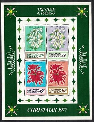 Trinidad and Tobago Flowers Christmas MS SG#MS516