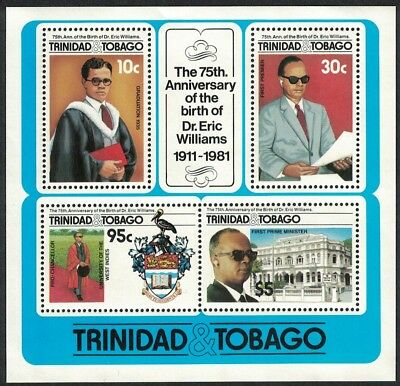 Trinidad and Tobago 75th Birth Anniversary of Dr Eric Williams MS SG#MS721