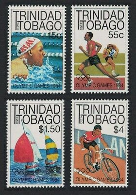 Trinidad and Tobago Sailing Swimming Cycling Olympic Games Los Angeles 4v