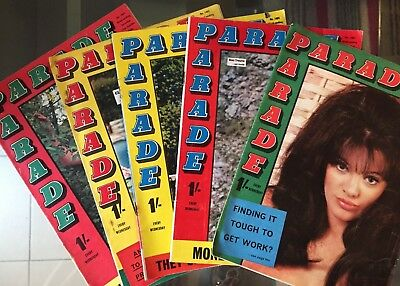 Five x 1966 Parade Magazines - See Pix for Issue Numbers and Dates (L1)