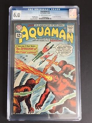 Aquaman #1 (1962) Cgc 6.0 First Quisp Justice League Of America