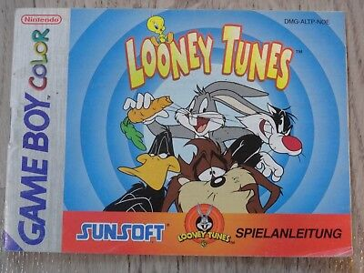 Manuel Only Notice Looney Tunes Game Boy Gameboy Color (Noe)