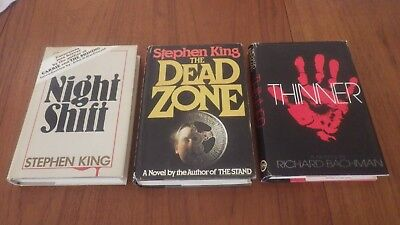 Stephen King Book Club Edition Lot of 3 Night Shift The Dead Zone Thinner