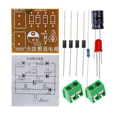 IN4007 AC To DC Power Converter Full Wave Bridge Rectifier kit       USA shipper