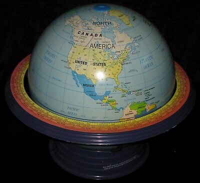 Vintage Cram 16 Inch Discovery School Globe In Metal Base Cr-03
