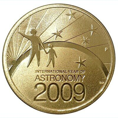 2009 Australian Stargazing The Skies $1 Unc Mint Coin-Not Issued For Circulation
